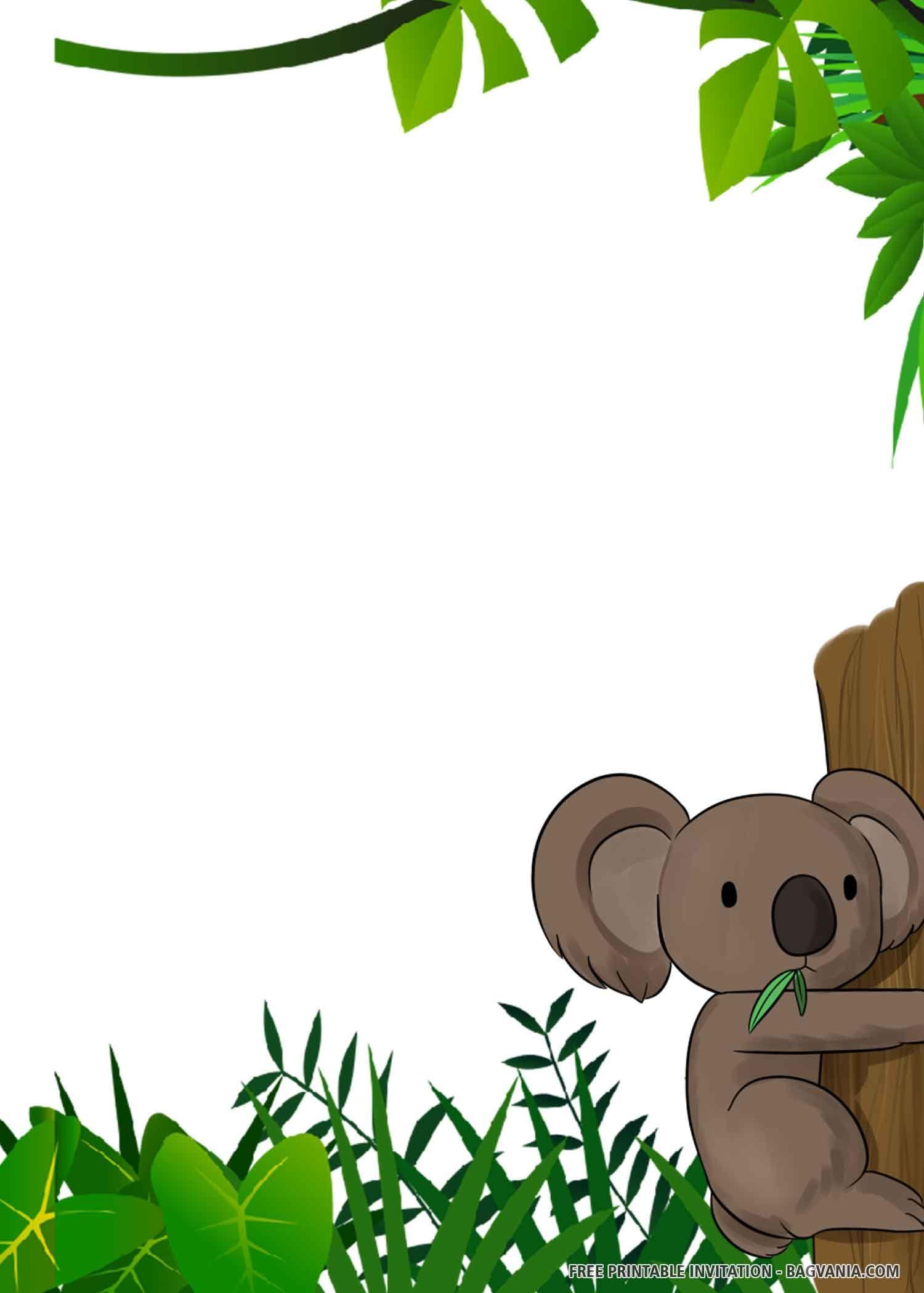 FREE PRINTABLE) – Cute Koala Birthday Invitation Templates in 5