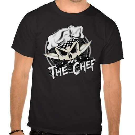 Chef Skull with Crossed Knives Tee Shirts