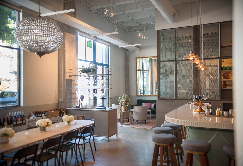 Ester S Wine Restaurant Design And Beverage Packaging Branding Design Studio Rustic Canyon Trademark Design