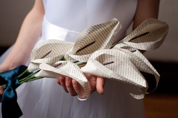 Love flowers, but also love books? Combine your loves with these gorgeous handmade creations.