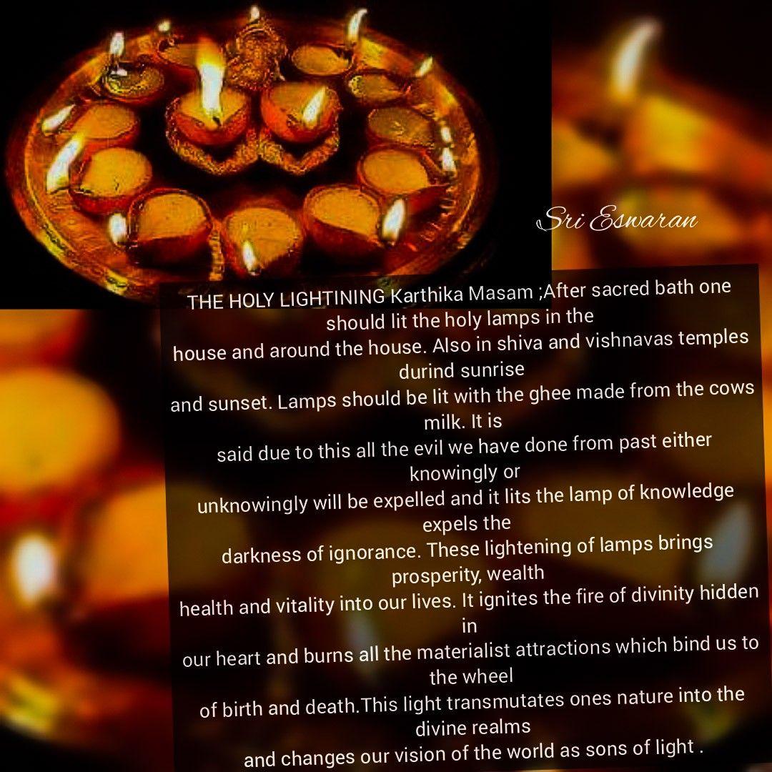 The Holy Lightining Karthika Masam After Sacred Bath One Should