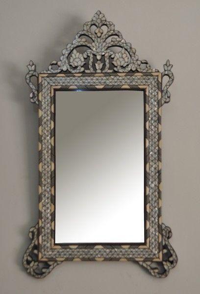 Pearl Wood Mirror Frame