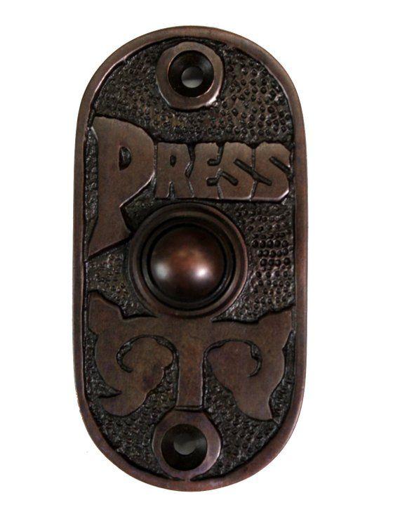 "New Cast Brass /""Broken Leaf/"" Push Button Switch Plate"