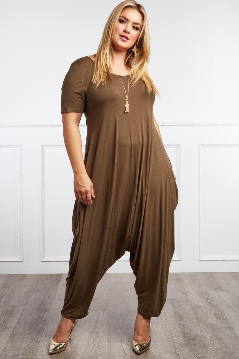 dade2804f394 Plus size heart harem jumpsuit ootd style fashion streetstyle jpg 800x1200  Curvy harem jumper dress black