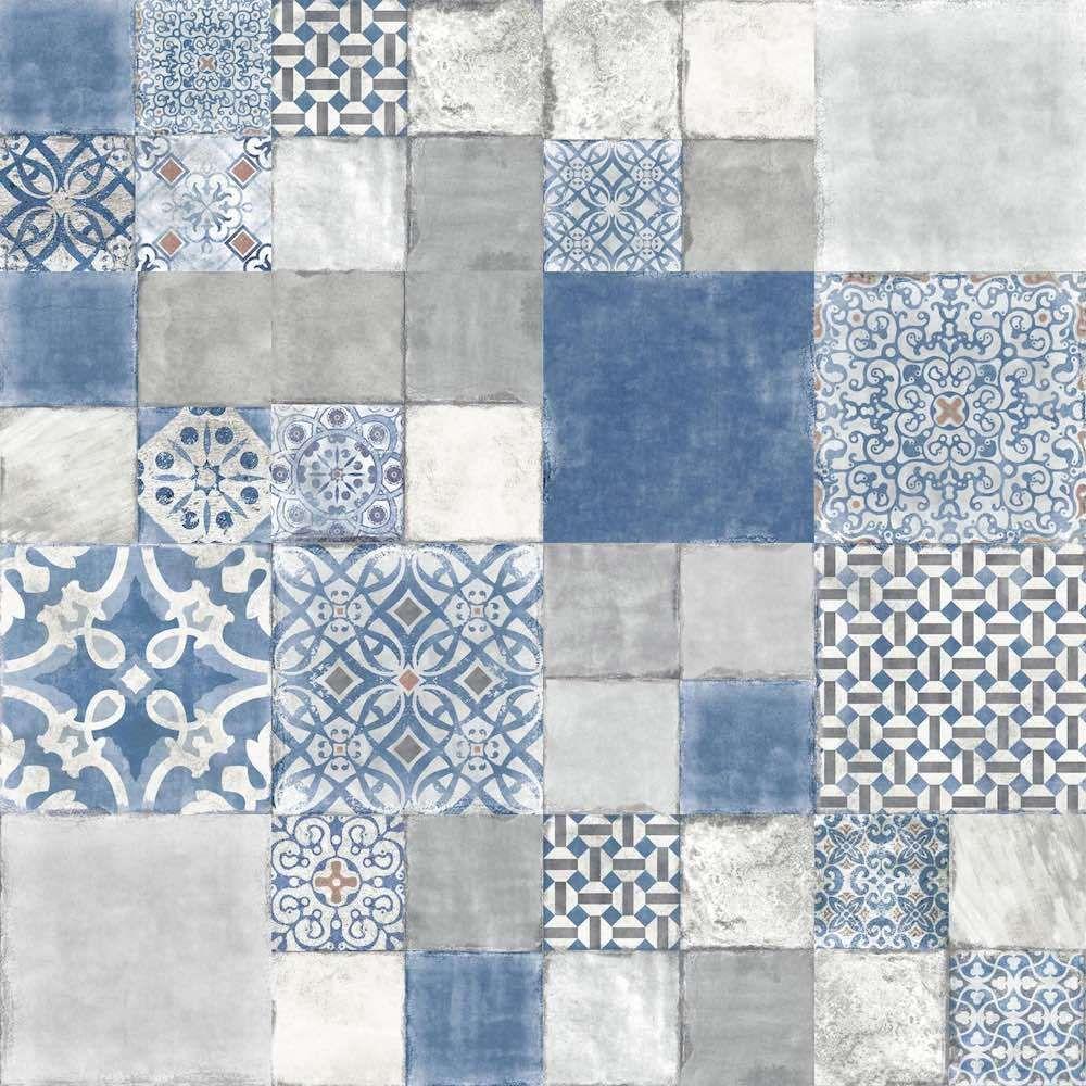 Heritage Porcelain Tile Coastal Blue Pattern 9x9 For Kitchen And Bathroom Coastal Cottage Coastal Bedrooms Coastal Style