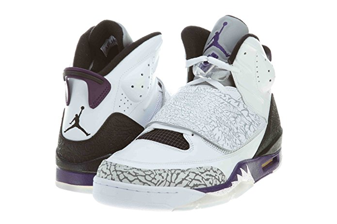 7d2d523e0a18ad Nike Air Jordan Son Of Mars Basketball Shoes White Club Purple-Cool Grey- Black