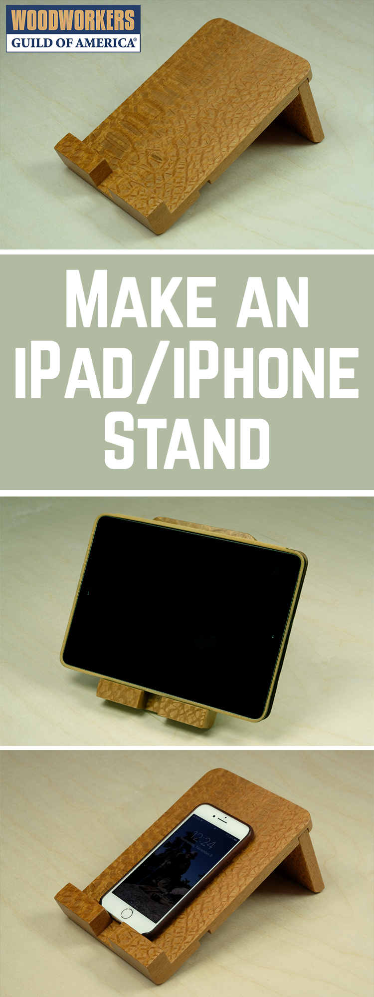 How to Make an iPad, iPhone, Tablet, or Smartphone Stand | WWGOA