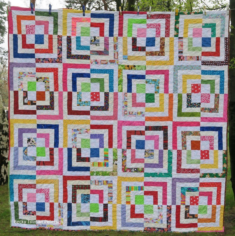 Fractured Squares   Optical Illusion Quilt   Modern Quilting