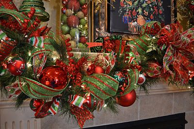Kristen S Creations November 2011 Christmas Fireplace Garland Christmas Garland Christmas Mantel Decorations