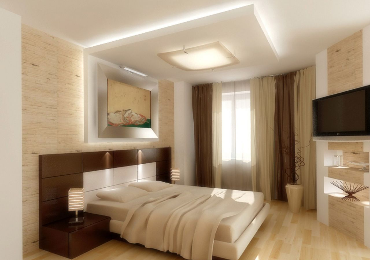 Master bedroom feature wall  False Ceiling Lights Google false ceiling living room master