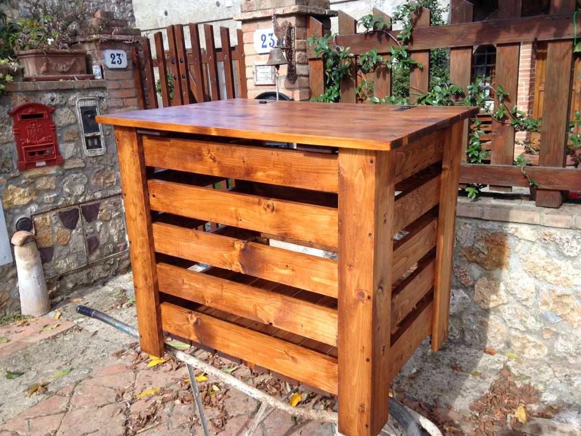 Mobili Da Giardino Con Pallet : Portalegna da esterno con pallet 🔨baule cassa fatta con riciclo