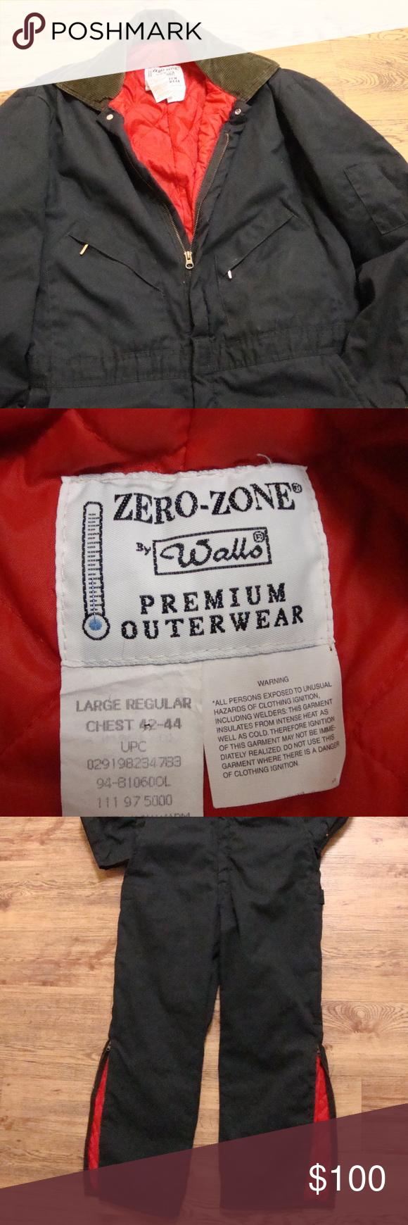 vtg walls zero zone insulated coveralls l insulated on wall insulated coveralls for men id=31092