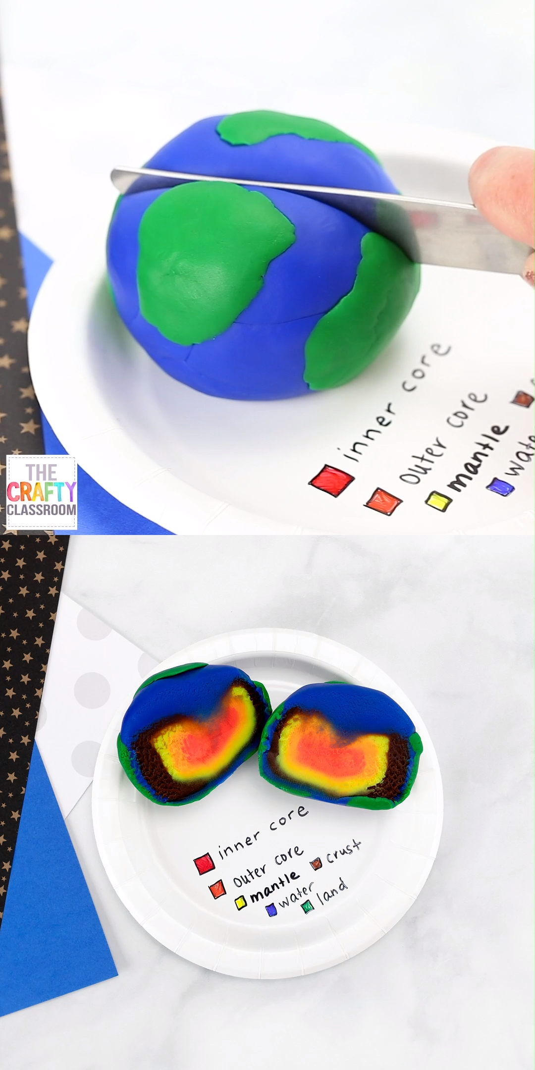 Is your student learning about the layers of the earth? Do you need some layers of the earth project ideas? This 3D model of the layers of the Earth is not only colorful and eye-catching, but it requires very little material and it's simple for even the youngest of science students to create! Includes follow up layers of the earth worksheets, labeling diagram, cross section, 3-part cards, and science journal pages. Everything your student needs to create an amazing science project!