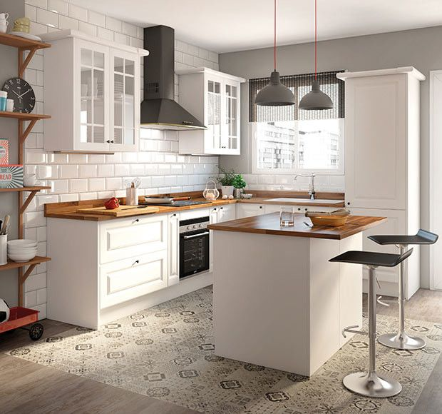 Una cocina luminosa y actual los muebles blancos son tendencia - Cocinas Integrales Blancas