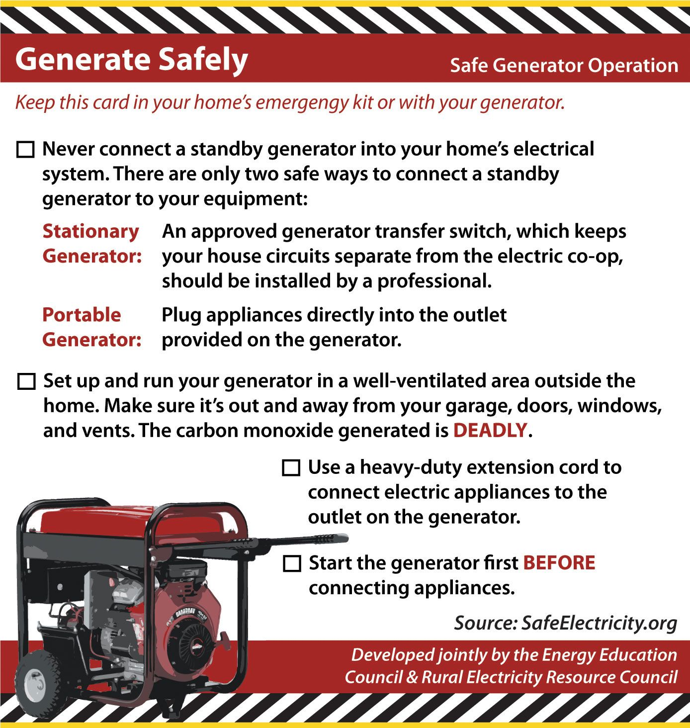 Generate Safety! Fire safety tips, Electrician services