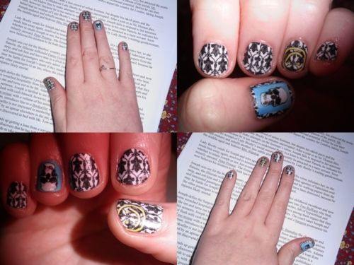 Sherlock inspired nails. wow.