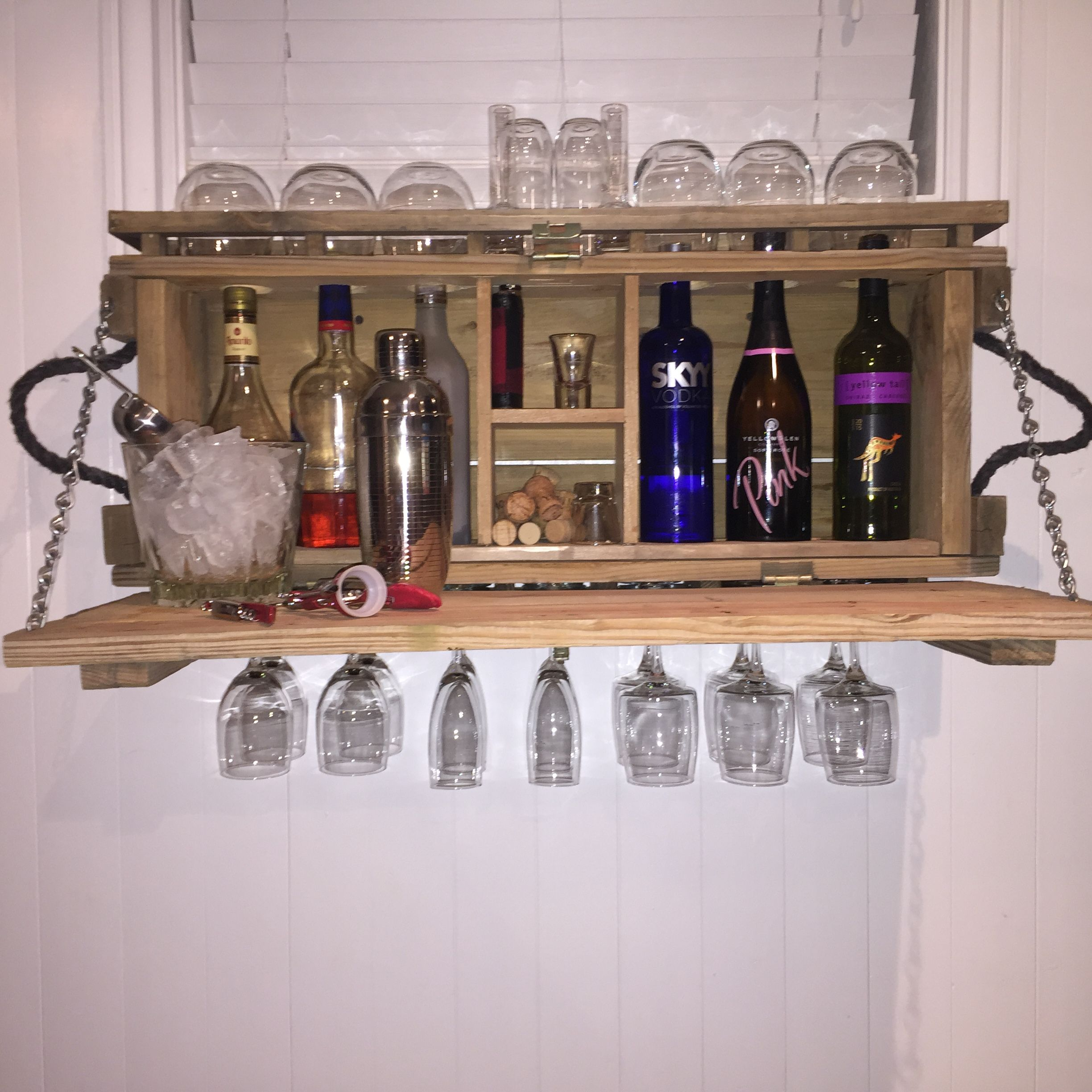 Ammo box minibar wine rack cool diy pinterest wine for Crate wine rack diy