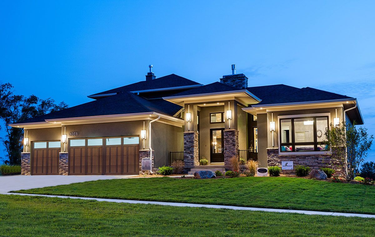 Plan 81636ab Amazing Prairie Style Home Plan Prairie Style Houses House Exterior House Plans