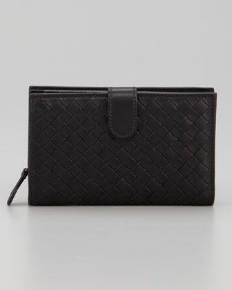 403d0553ef8f69 Bottega Veneta Woven Leather Wallet | bag lady | Leather wallet ...