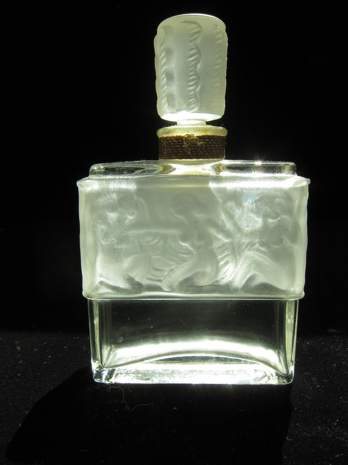Vintage Molinard de Molinard Lalique Perfume Bottle with Crystal Stopper | eBay