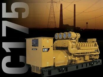 Caterpillar C175-20 generator. Capable of producing energy for 350 average homes.