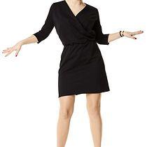 Sukienka kopertowa z dekoltem czarna, sukienki