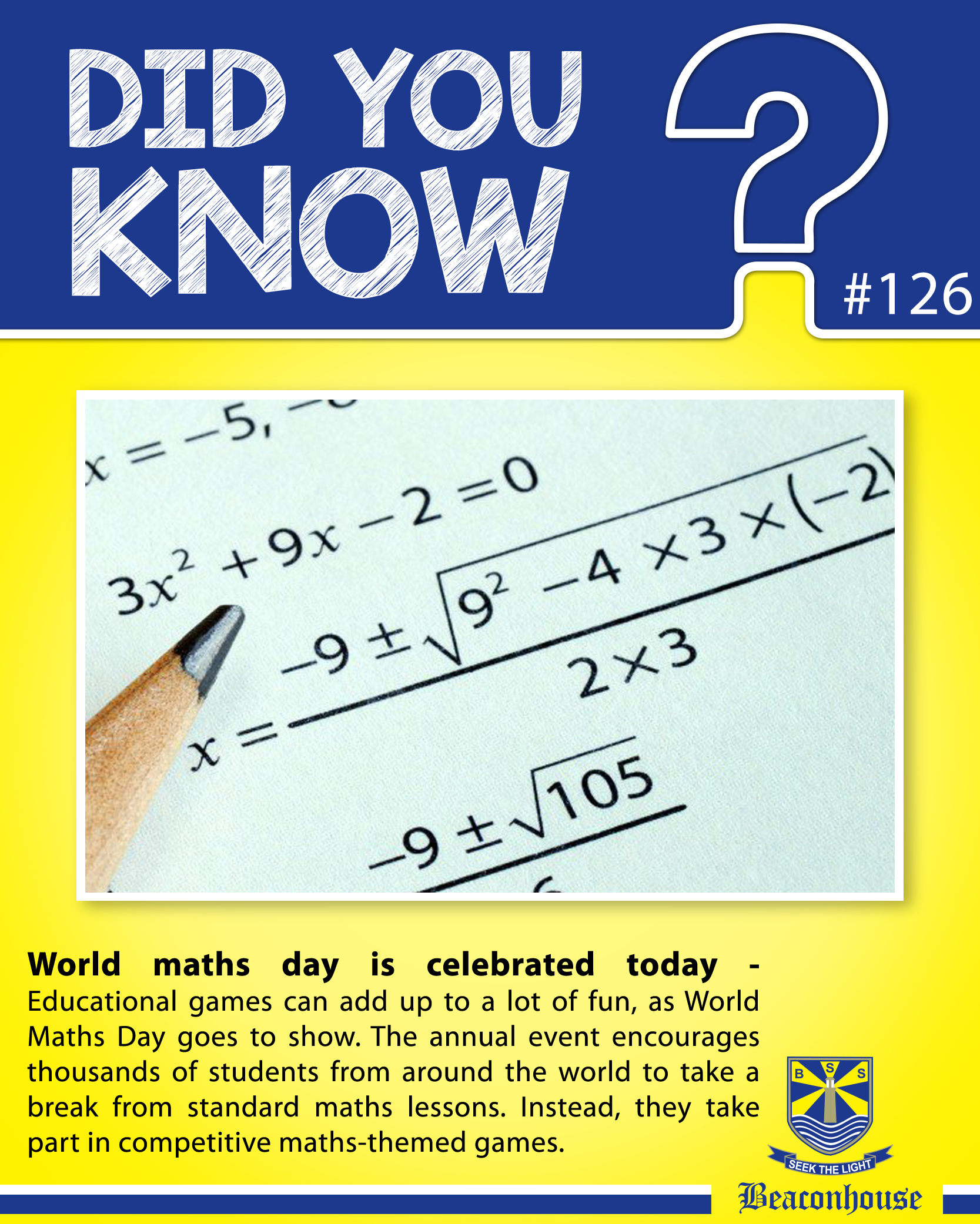 DidYouKnow World maths day is celebrated today