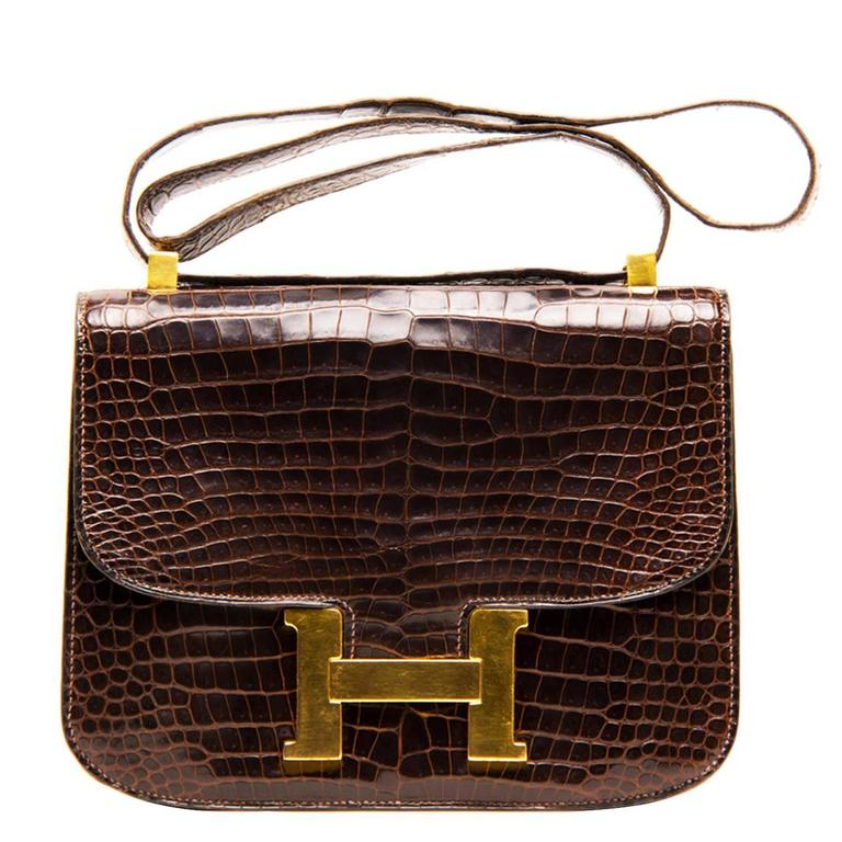 ffb9abc7d480 Hermès Hermè Crocodile Constance 23Cm Bag Shoulder Bag