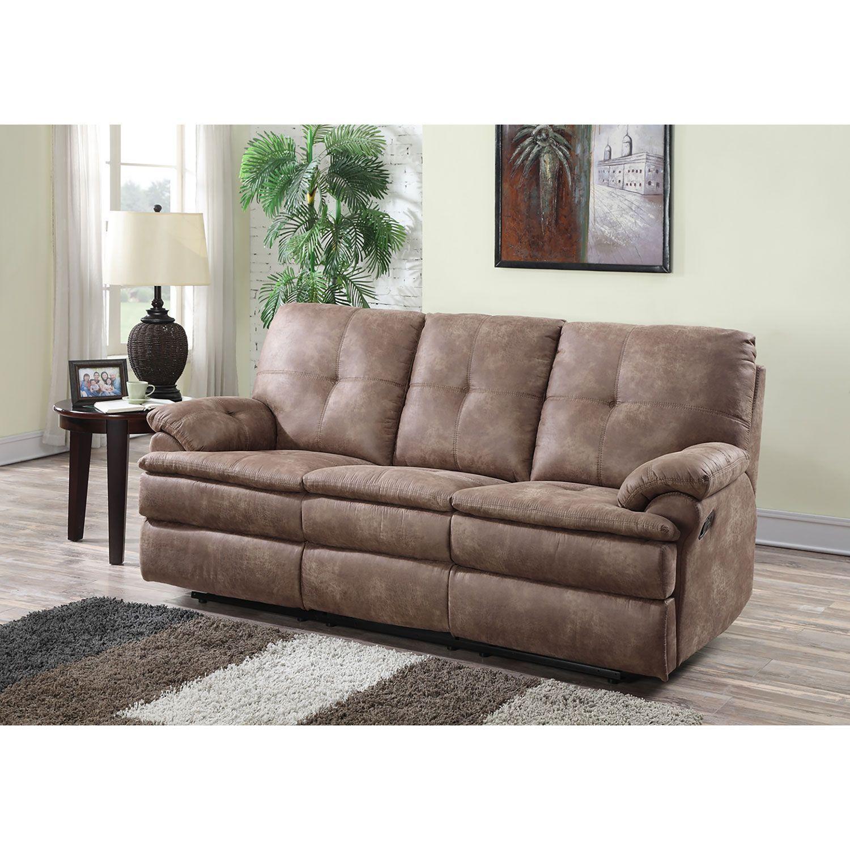 Buck Faux Leather Reclining Sofa Reclining Sofa Leather Reclining Sofa Sofa