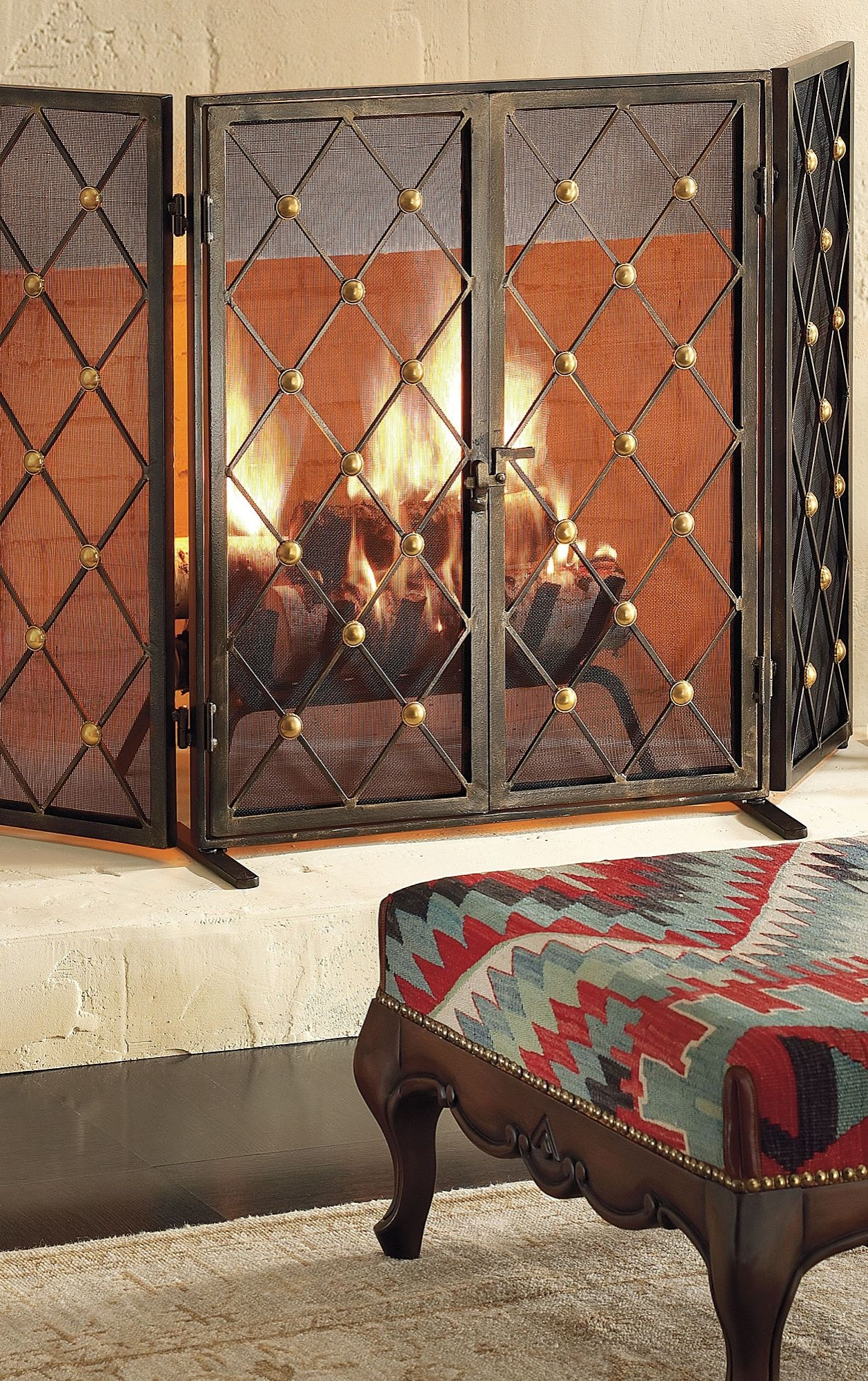 byron two door fire screen fireplace screens tool set and hearths