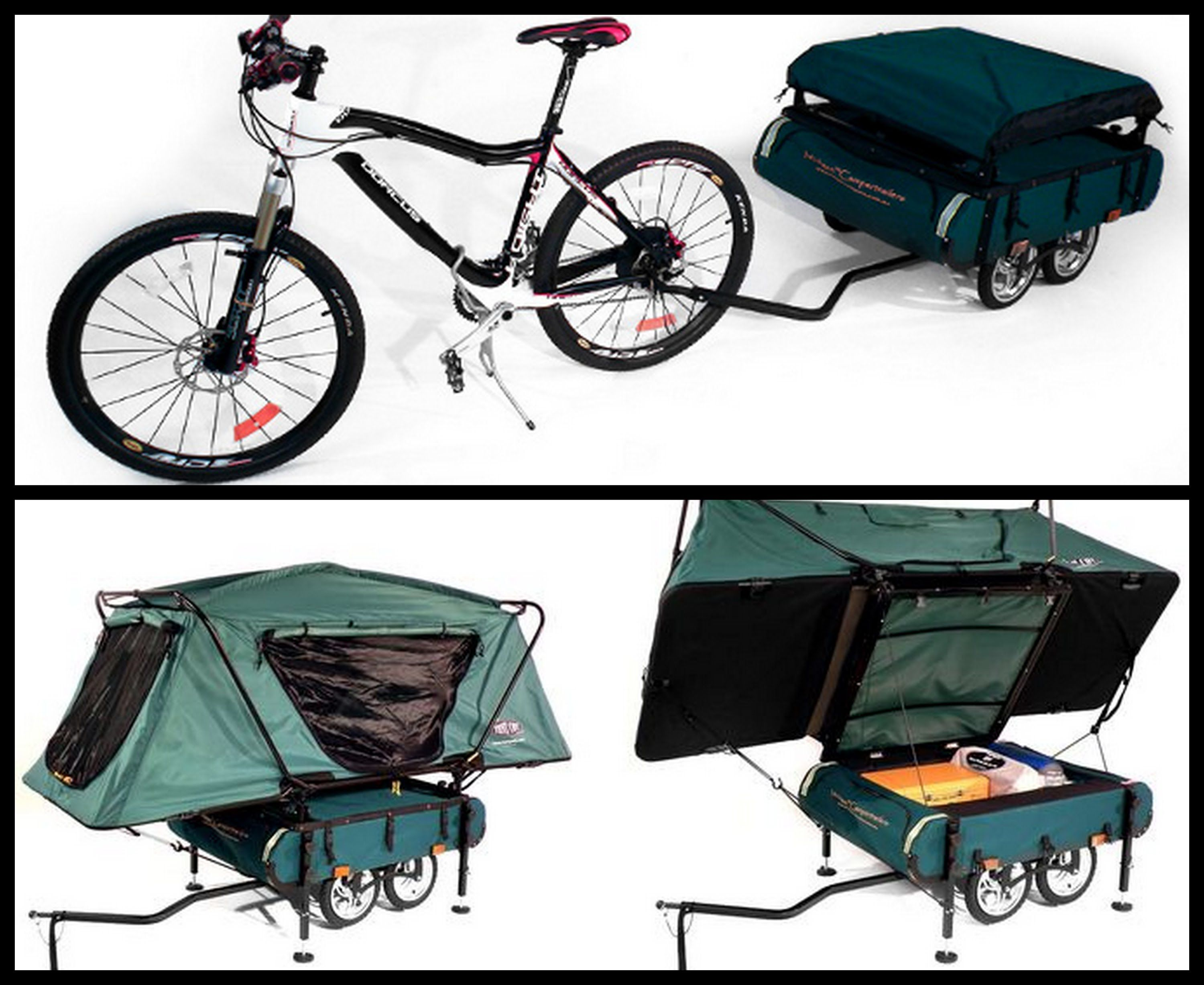 Bike Camper Trailer Bushtrekka Bicycle Camper Trailer Cycling Pinterest