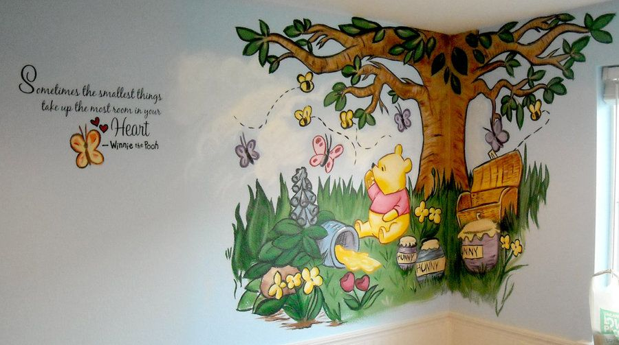 Photos Related Winnie The Pooh Wall Murals Stickers Decals Kids Room With  Mural Childrens And Part 19