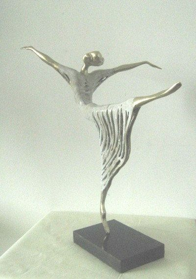 Bronze Sculpture Ballet-Dancer Original Unique bronze by Lady88Art