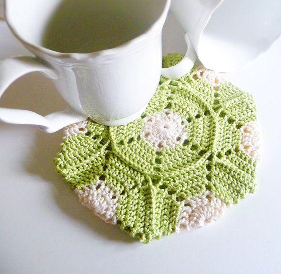 Color Block Hexagon Crochet Potholder PDF Pattern by CherieWheeler, $6.00