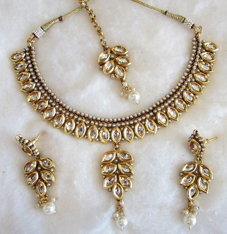 Indian Gold Jewellery Necklace Sets Google Search: Kundan Set Shops - Google Search