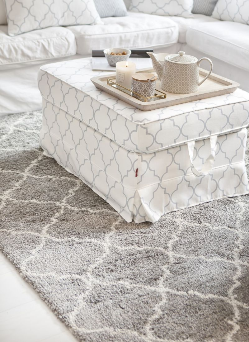 Ein marokkanisch inspiriertes Muster verziert die Teppichserie