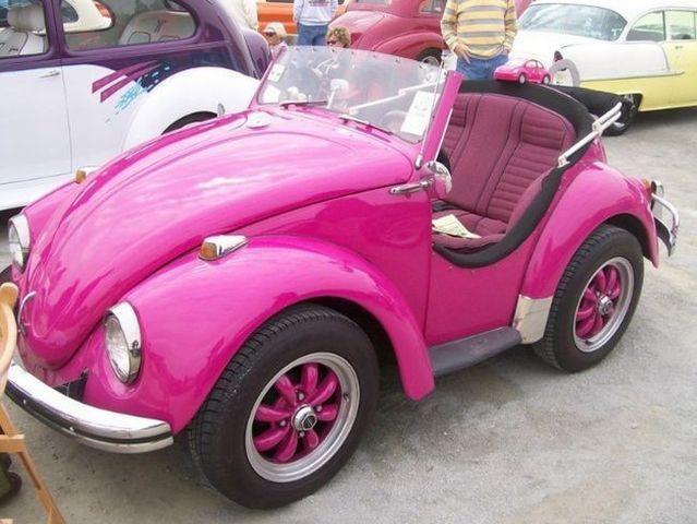 Fun Hot Pink VW Bug For Deb