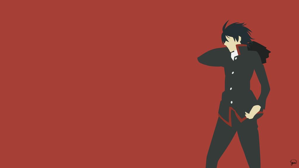 Koyomi Araragi Bakemonogatari Minimalism Anime Wallpaper Android Wallpaper Anime Anime