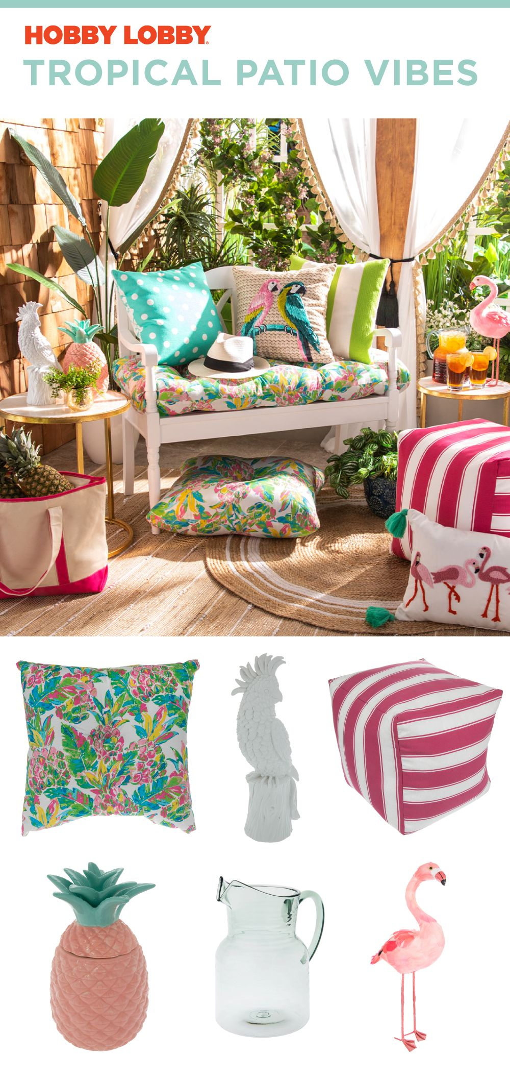We Love Combining Tropical Accents For A Colorful Spring Vibe Rustic Home Interiors Funny Home Decor Patio Decor Inspiration