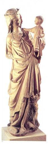 Vierge au pied d'argent ou ND du Treillis, Compiègne vers 1270