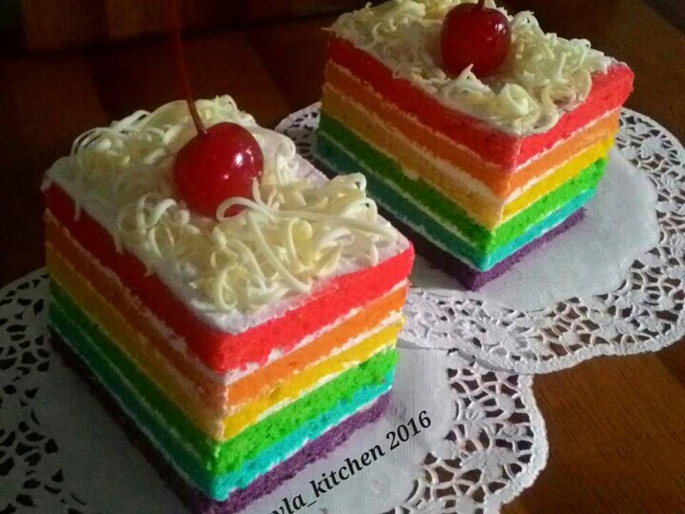 Resep Rainbow Cake Kukus Ny Liem Super Lembut Oleh Kheyla S Kitchen Resep Resep Adonan
