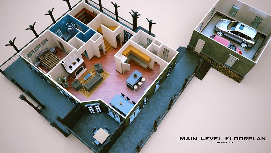Open Floor Plan with Wrap Around Porch | Wraparound porch ...