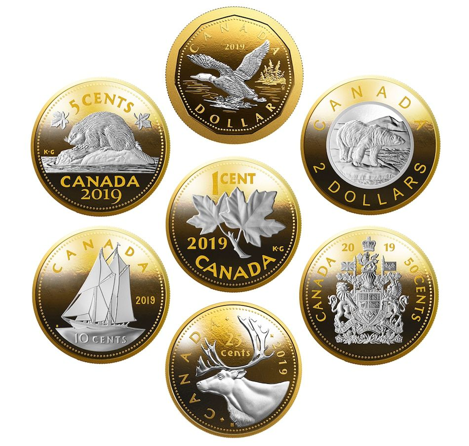 Proof 2019 Canada 50 Cents From Mint/'s Set