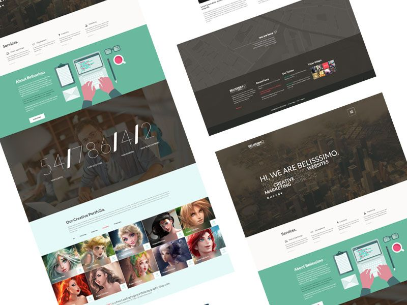 Free Bootstrap Theme Minimal Business Card Portfolio Templates Graphic Design Resources