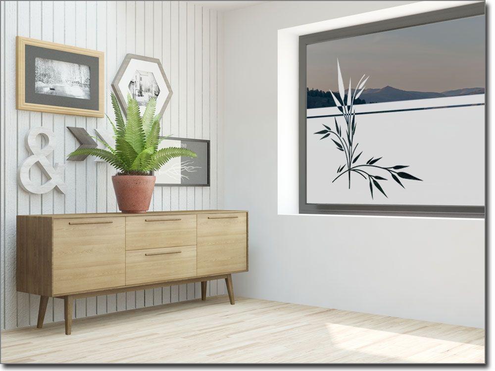 folie für fenster im flur mit bambus | sichtschutzfolie pflanzen ... - Folie Für Badezimmerfenster