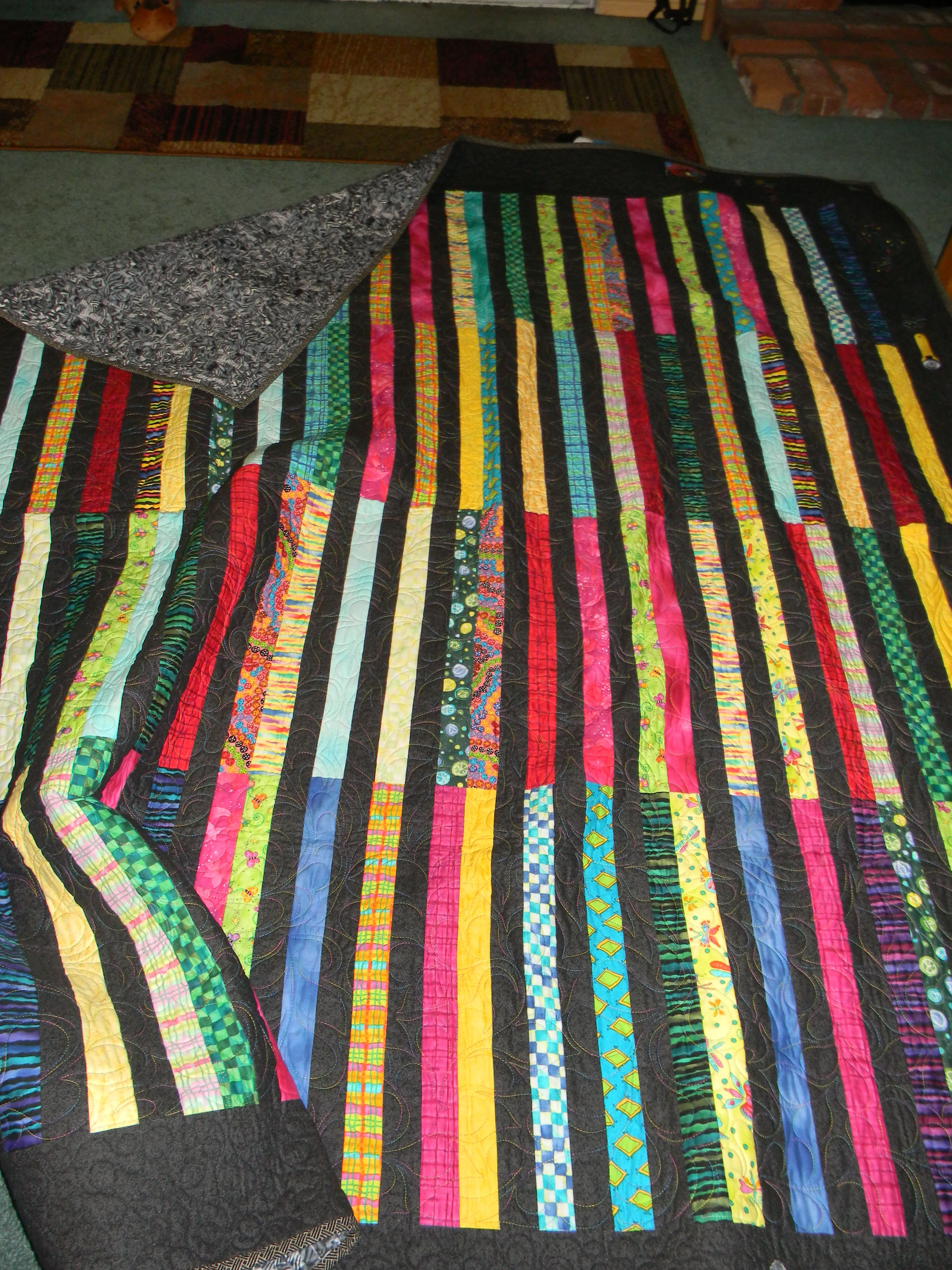 King size quilt in all colors.