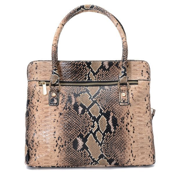 Michael Kors Astrid Large Satchel Angora Beige Python-embossed | Dream  Handbags | Pinterest | Python, Emboss and Satchels
