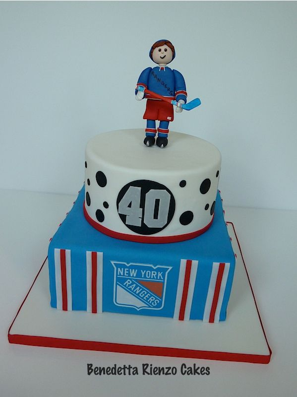 NY Rangers Hockey Cake NY Rangers Hockey Cake for a 40th birthday