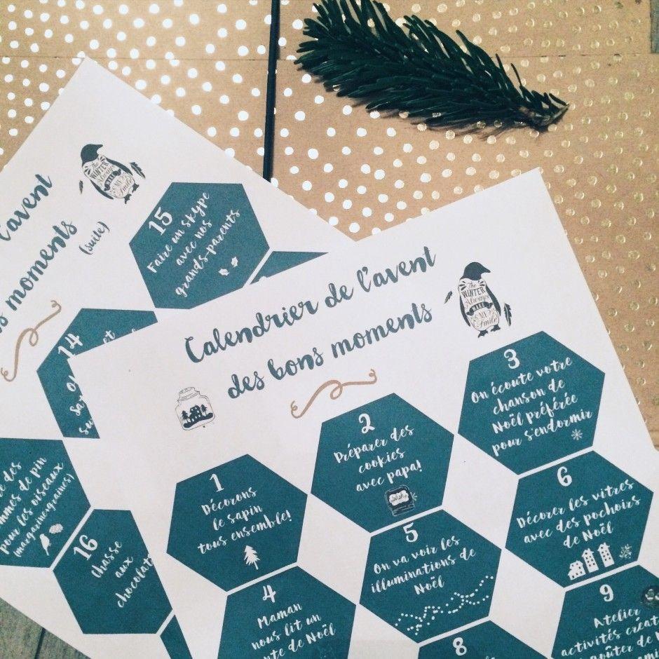 Calendrier De L Avent Des Bons Moments Free Printable