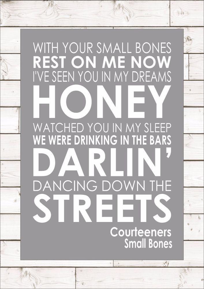 Lyric bones lyrics : SMALL BONES - COURTEENERS - Word Typography Words Song Lyric ...